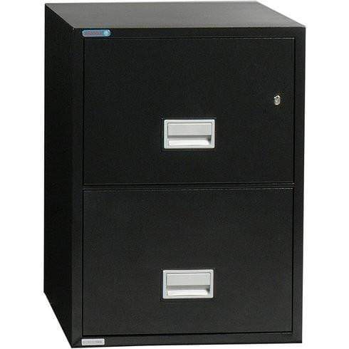 Phoenix Safe International Black Phoenix LTR2W31 Vertical 31 inch 2-Drawer Letter Fireproof File Cabinet LTR2W31B