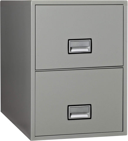 Image of Phoenix Safe International Light Gray Phoenix LTR2W31 Vertical 31 inch 2-Drawer Letter Fireproof File Cabinet LTR2W31LG