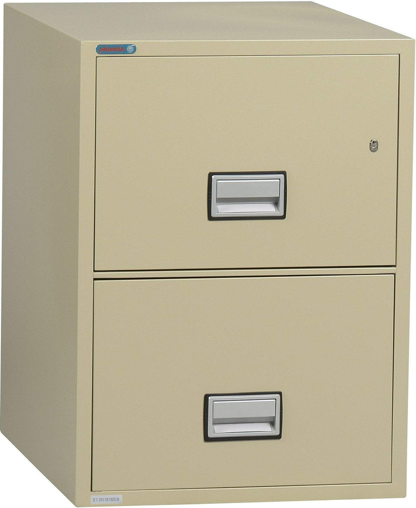Phoenix Safe International Putty Phoenix LTR2W31 Vertical 31 inch 2-Drawer Letter Fireproof File Cabinet LTR2W31P