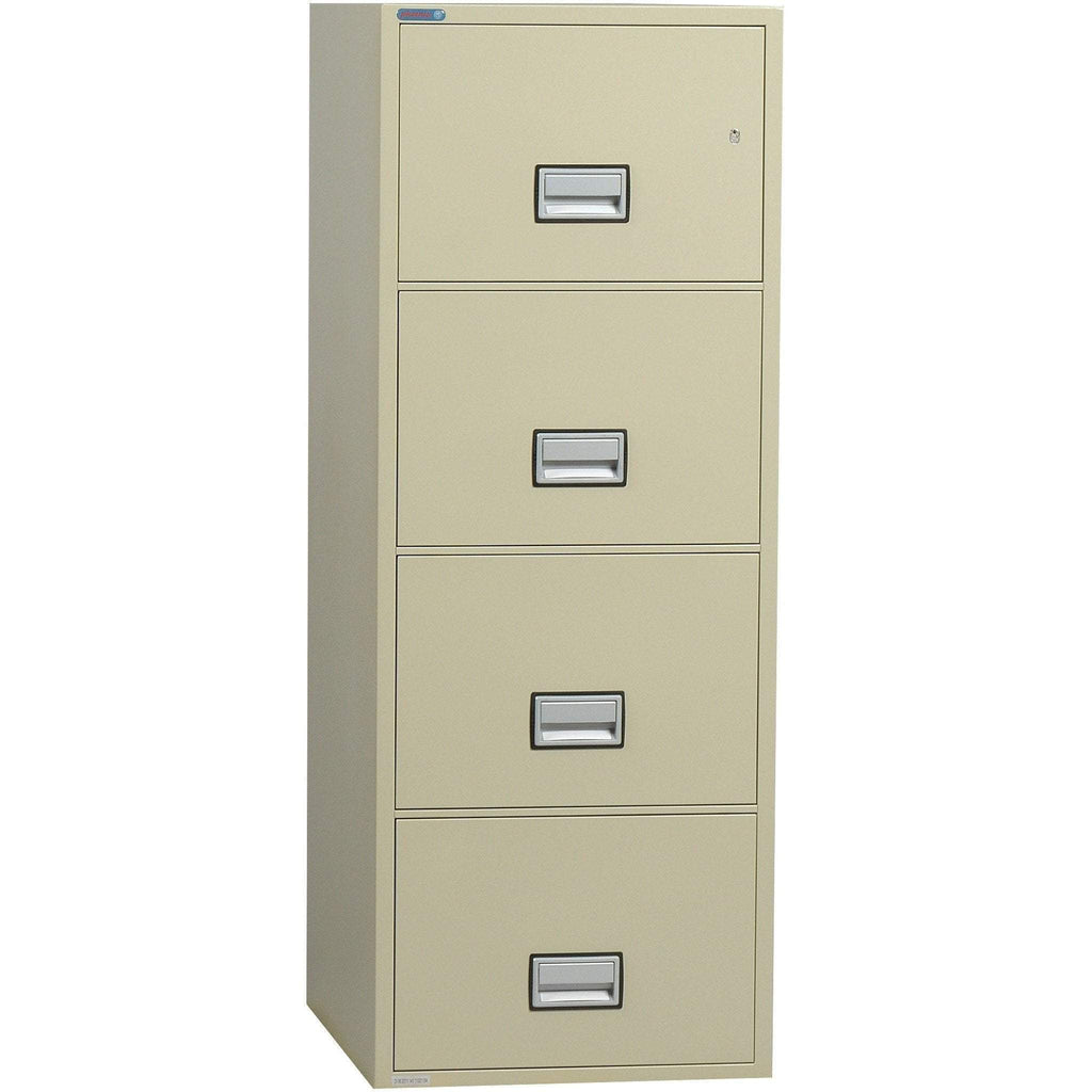 Phoenix Safe International Putty Phoenix LTR4W31 Vertical 31 inch 4-Drawer Letter Fireproof File Cabinet LTR4W31P