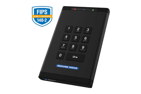 Secure Drive 1 TB - HDD SecureDrive® KP Hardware Encrypted External Portable Drive SD-KP-12-BL1000GB