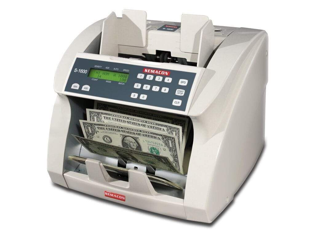 Semacon Semacon S-1600V Series Premium Bank Grade Currency Value Counters S-1600V