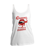 Queens Are Born In October Glitter Ladies Tank