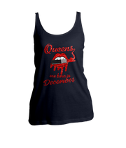 Queens Are Born In December Glitter Ladies Tank