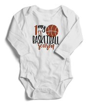 My First Basketball Season Long Sleeve Infant One-Piece