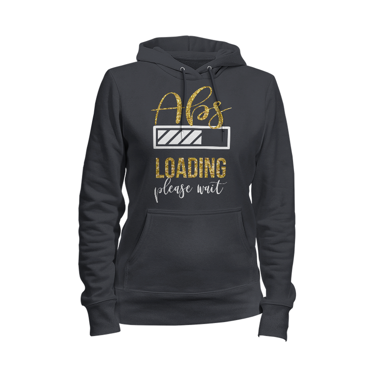 Abs Loading Glitter Ladies Hoodie