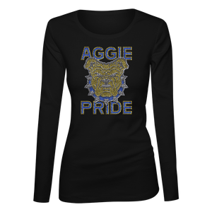 Aggie Pride Bling Ladies Long Sleeve Shirt