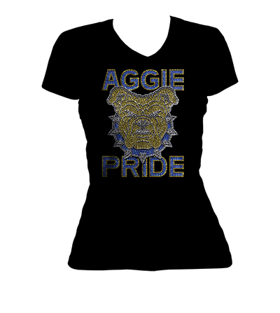 Aggie Pride Bling V-Neck Shirt