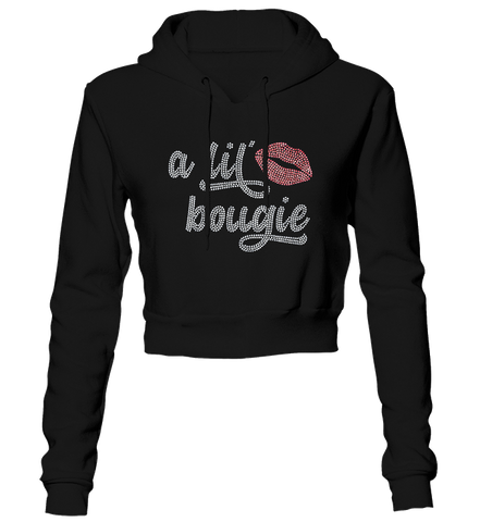 A Lil' Bougie Bling Cropped Hoodie