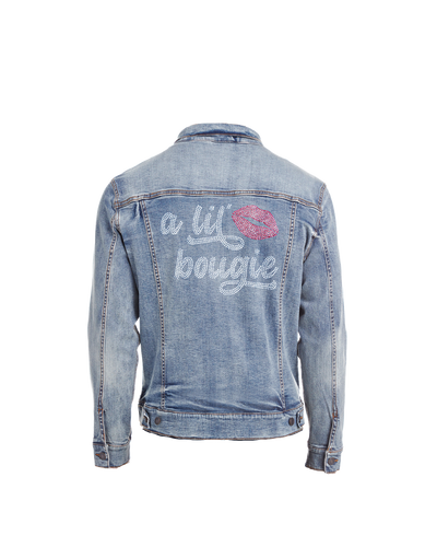 A Lil' Bougie Bling Denim Jacket
