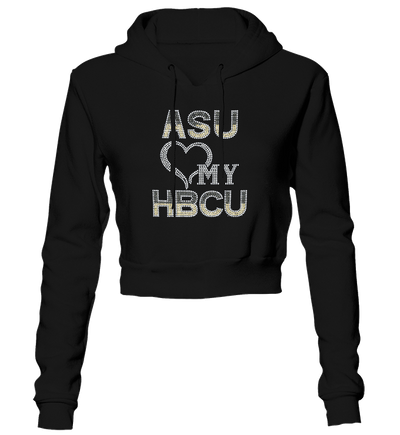 Alabama State University Bling Cropped Hoodie