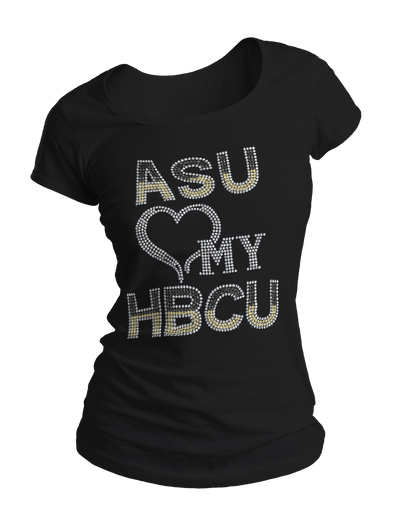 Alabama State University Bling Crew Neck Shirt