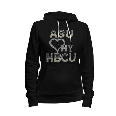 Alabama State University Love My HBCU Rhinestone Ladies Hoodie