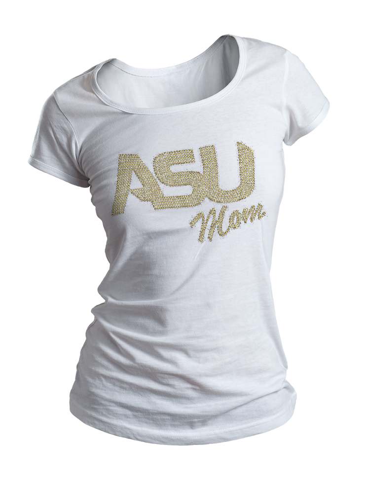 ASU Mom Bling Crew Neck Shirt