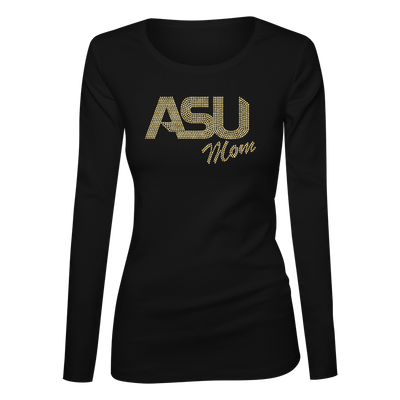ASU Mom Bling Ladies Long Sleeve Shirt