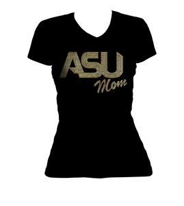 ASU Mom Bling V-Neck Shirt