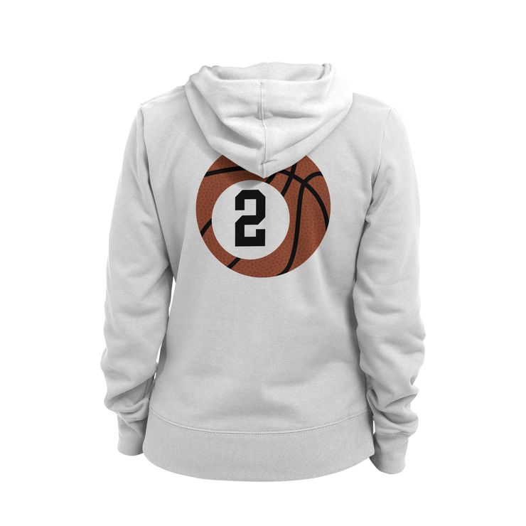 Basketball Aunt Ladies Hoodie
