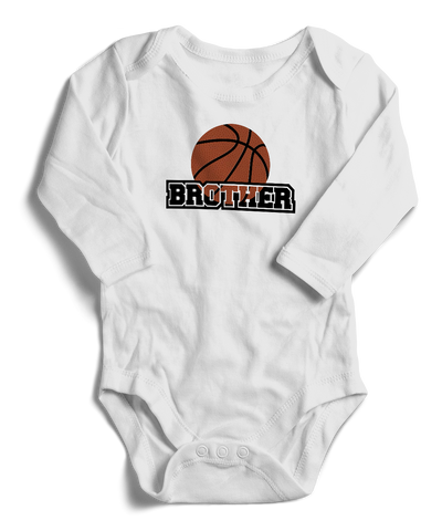 Basketball Brother Long Sleeve Infant One-Piece