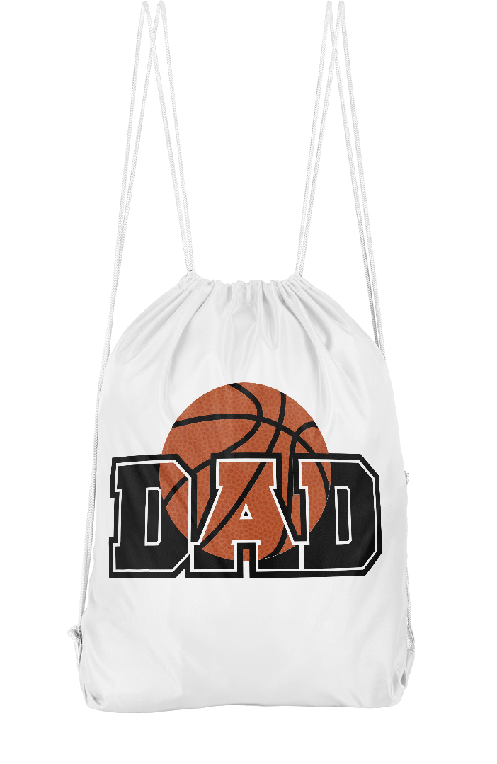 Basketball Dad Drawstring Backpack