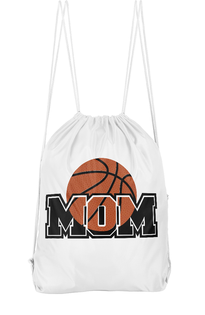 Basketball Mom Drawstring Backpack