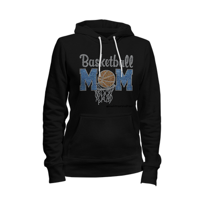 Basketball Mom Rhinestone Ladies Hoodie