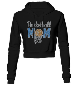 Basketball Mom Bling Cropped Hoodie