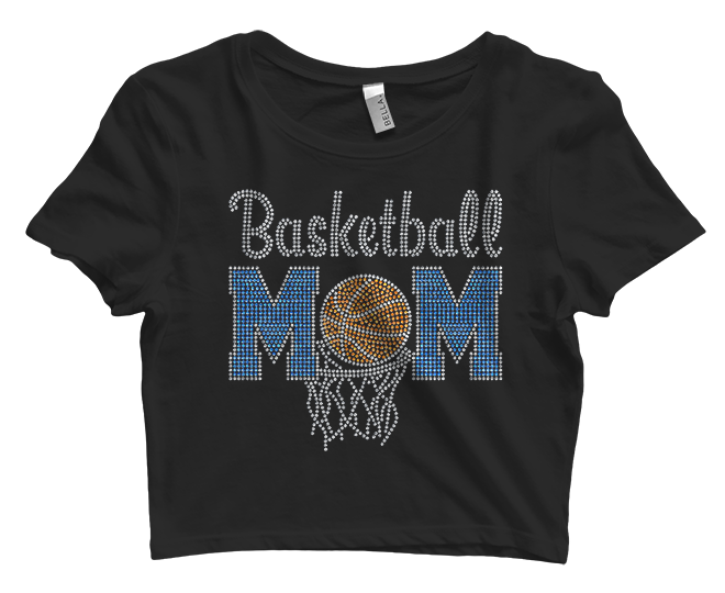 Basketball Mom Bling Crop Top