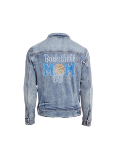 Basketball Mom Bling Denim Jacket