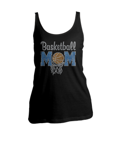 Basketball Mom Bling Ladies Tank Top