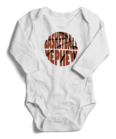 Basketball Nephew Long Sleeve Infant One-Piece