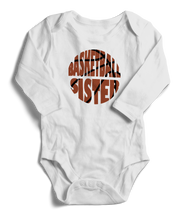 Basketball Sister Long Sleeve Infant One-Piece