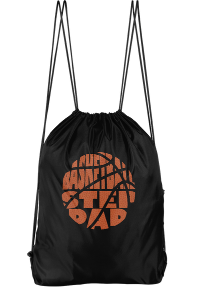Basketball Stepdad Drawstring Backpack