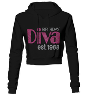 Birthday Diva Bling Cropped Hoodie