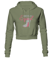 Birthday Squad Bling Cropped Hoodie