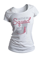 Birthday Squad Bling Crew Neck Shirt
