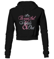 I'm Beautiful Inside & Out Bling Cropped Hoodie