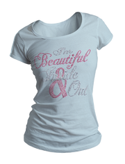 I'm Beautiful Inside & Out Bling Crew Neck Shirt