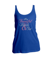 I'm Beautiful Inside & Out Bling Ladies Tank Top