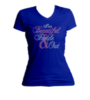 I'm Beautiful Inside & Out Bling V-Neck Shirt