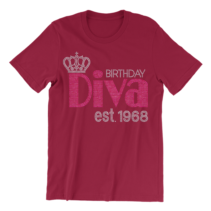 Birthday Diva w/Crown Rhinestone Unisex Shirt