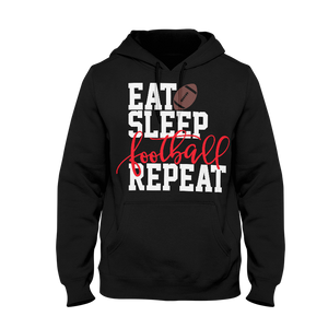 Eat Sleep Football Repeat Men's Hoodie