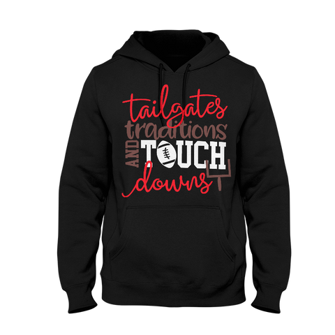 Tailgates Traditions And Touchdowns Hoodie