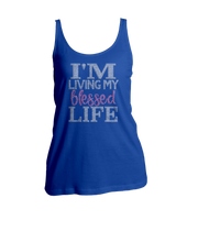 I'm Living My Blessed Life Bling Ladies Tank Top