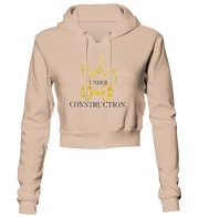 Body Under Construction Glitter Cropped Hoodie