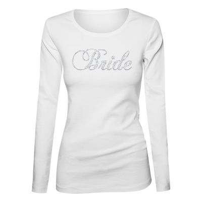 Bride Bling Ladies Long Sleeve Shirt