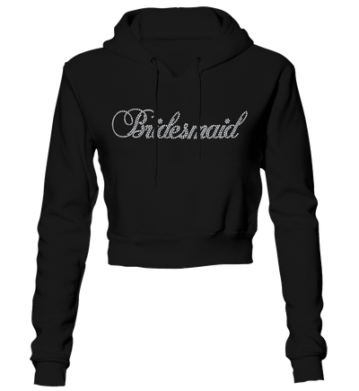 Bridesmaid Bling Cropped Hoodie