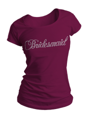 Bridesmaid Bling Crew Neck Shirt