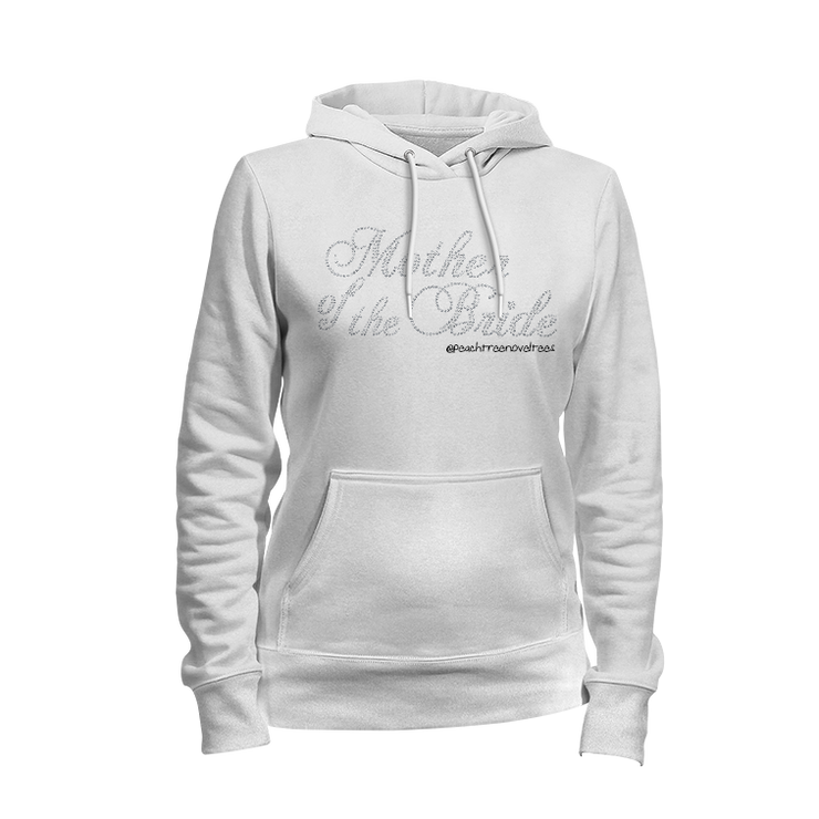 Mother of the Bride Rhinestone Ladies Hoodie