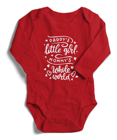 Daddy's Little Girl Mommy's Whole World Long Sleeve Infant One-Piece