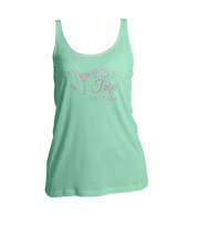 Girls Trip Destination w/Martini Glass Bling Ladies Tank Top